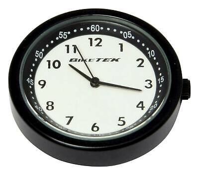 Motorcycle Black / White Faced Clock