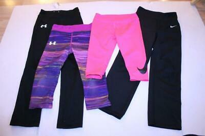 Youth Girls Nike & Under Armour Leggings Pants Lot of 4
