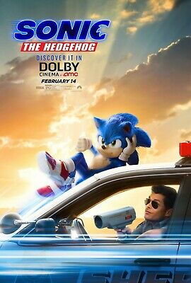 Sonic The Hedgehog movie poster (f)  - 11 x 17 inches - James Marsden