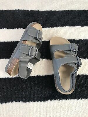 GAP Kids Boys NEW Toddler Sz 7-8 9-10 Brown Braided Faux Leather Sandals Shoes