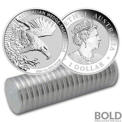 2020 Australia Perth Wedge-Tailed Eagle 1 oz Silver BU (20 Coins)
