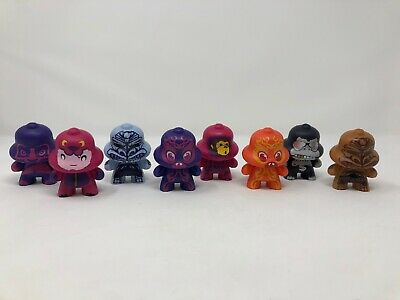 Lot of 8 BELLHEDZ Taco Bell Collector Figures Toy 2009