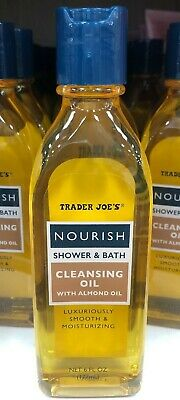 Trader Joes Nourish Shower And Bath Cleansing Oil With Almond Oil