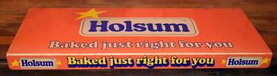 "Vintage 1975 HOLSOM BREAD Advertising Shelf Store Display Sign 24"" x 10"""