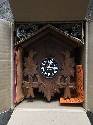VTG NIB German Black Forrest Wooden Hubert Herr Cuckoo Clock