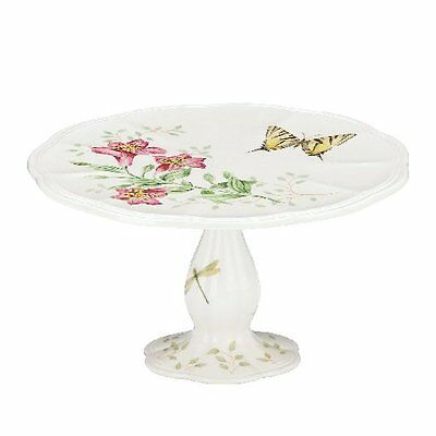 Lenox Butterfly Meadow Pedestal China Cake Plate  NEW