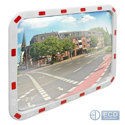 Traffic wide angle security road mirror rectangle traffic mirror with reflectors