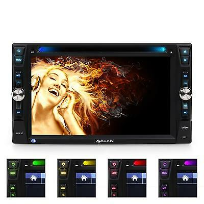 2Din Dvd Moniceiver Bluetooth Autoradio Touchscreen Mp3 Cd Player Usb Sd Tv Rds