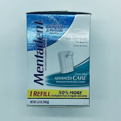 Mentadent Refill Advanced Care Clean Mint Fluoride Toothpaste Discontinued