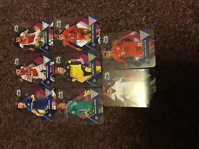 TOPPS CHAMPIONS LEAGUE CRYSTAL CARDS 2019/12 x 8 cards