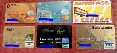 Vintage Collectible Credit Cards ~ Lot Of 6 ~ Visa, Mastercard, Discover, Etc