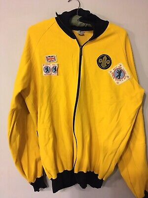 vintage Retro ruff sportbekleidung Sport Jacket With Scout Badges