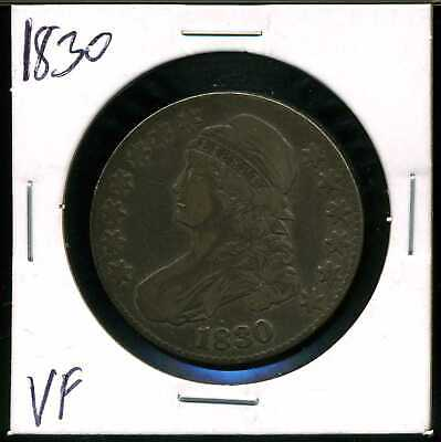 1830 50C Capped Bust Half Dollar in VF Condition