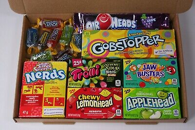 American sweets gift box - USA candy hamper - nerds - Airheads -  Jolly ranchers