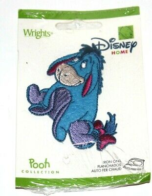 """Disney/'s EEYORE Large 6.9/"""" Tall x 8/"""" Wide 100/% Embroidered Sewn//Iron On Patch"""