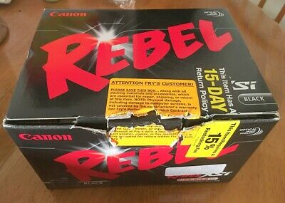 Canon EOS Digital Rebel XSi - EOS 450D 12.2MP Digital SLR Camera - Black & Lens