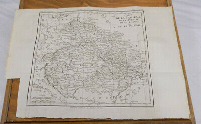 1787 Antique Map/DETAILED TOPOGRAPHICAL MAP OF BOHEMIA, GERMANY, Plus Related Te