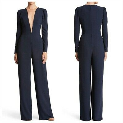 Dress the population Drew plunging neck jumpsuit Size Small