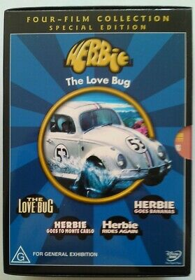 Disney HERBIE The Love Bug 4 DVD Special Edition Collection Box Set PAL R4 RARE