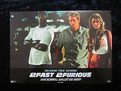 2Fast 2Furious Lobby Carte #6 The Fast And The Furious,Paul Walker,Tyrese