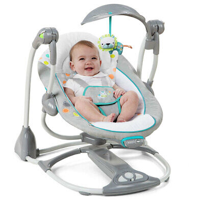 Ingenuity ConvertMe to Portable Foldable 2 in 1 Swing Baby Infant Rocker Seat