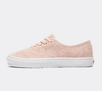 WOMENS VANS AUTHENTIC Hairy Suede Sepia Rose Trainers (PF3