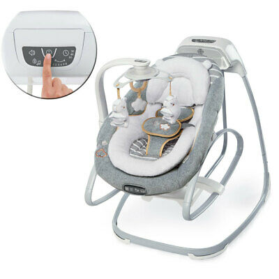 Ingenuity Boutique Collection Baby Gliding Swing/Rocker/Bouncer Bella Teddy Grey