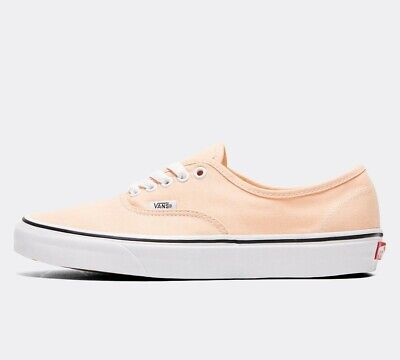 Mens Vans Authentic Bleached Apricot/True White Trainers (SF1) RRP £56.99
