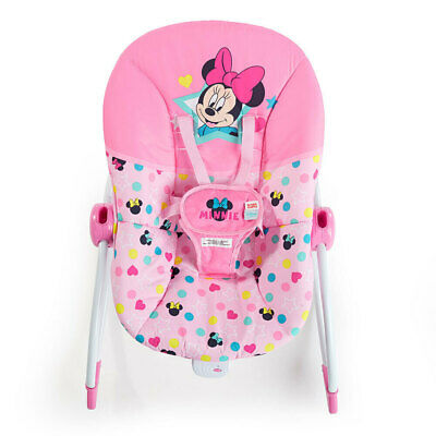 Bright Starts Disney Minnie Mouse Infant To Toddler Rocker/Chair w/Music/Toy 0M+