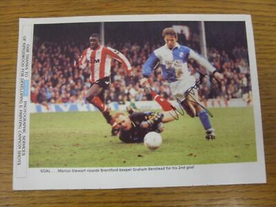 1991-1996 Football Autograph: Bristol Rovers - Marcus Stewart [Hand Signed, Colo