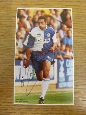 1996/1997 Football Autograph: Blackburn Rovers - George Donis [Hand Signed, Colo