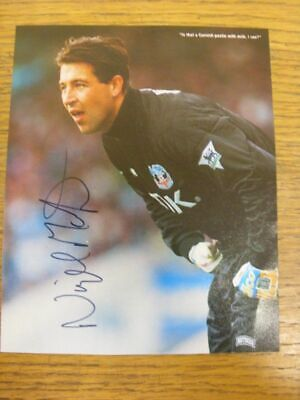 1989-1996 Football Autograph: Crystal Palace - Nigel Martyn [Hand Signed, Colour