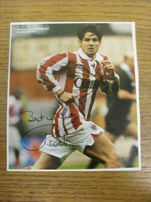 1994-1996 Football Autograph: Stoke City - Paul Peschisolido [Hand Signed, Colou