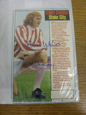 1967-1979 Football Autograph: Stoke City - Terry Conroy [Hand Signed, Colour, Ma
