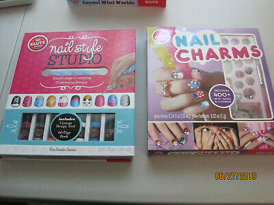 TWO NEW Klutz Craft Kits Nail Style Studio AND Nail Charms