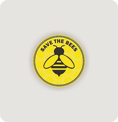 Save the bees banner environment yellow planet earth flower Car Sticker Decal