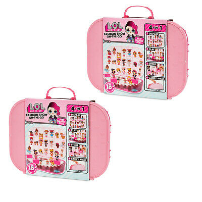 2xLOL Surprise Carrying Case Fashion Show On The Go Storage Doll/Accessory LT PK