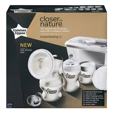 Tommee Tippee Closer To Nature Manual Breast Milk Pump Kit Suction/Silicone