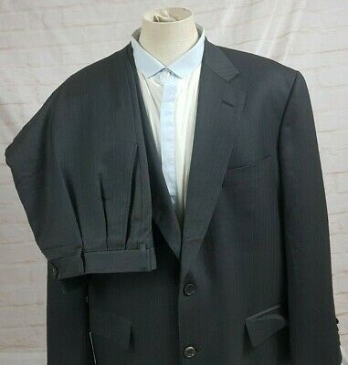 Brooks Brothers Men's Suit 2 pc Saxxon Wool Madison Fit Gray Size 44R 46R 40W