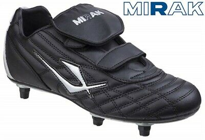SALE Mirak Touch Fastening Childrens Boys Screw In Football Boots - Black SIZE 5