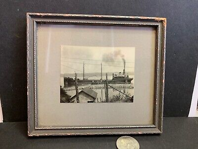 Vintage Photo Steamship Pinthis, Fall River, MA, Sunk 1930 In Major Disaster