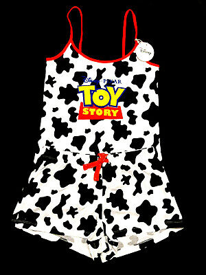 Toy Story Official Disney Ladies Cotton Vest & Short Pyjama Set Pjs Bnwt Primark