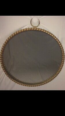 Chaty Vallauris 1950 Grand Miroir Rond Taille Inhabituelle