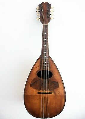 Antique Mandolin made by Martella, Napoli, Italy 1901 - mandolino antico