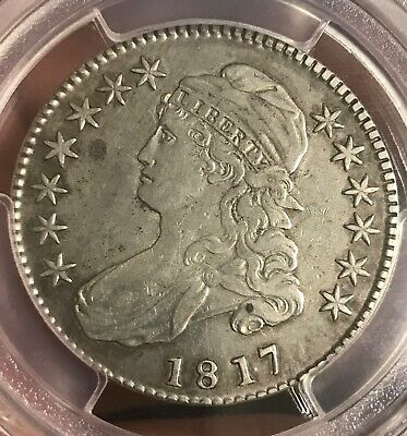 181.7 Punctuated date , bust Half dollar ,  PCGS  VF details