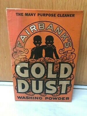 Early 1940's Fairbanks GOLD DUST Washing Powder Soap Box: Sealed w/Soap