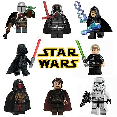 Star Wars CUSTOM Lego Mini Figures Building Jedi Darth Vader Yoda Skywalker Sith