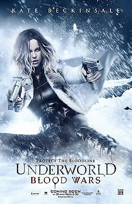 Underworld Blood Wars movie poster : 11 x 17 inches : Kate Beckinsale Poster (c)