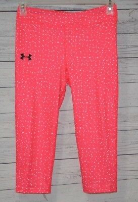 Under Armour Heat Gear Capri Fitness Pants Youth Girls UPF 30 Size YLG
