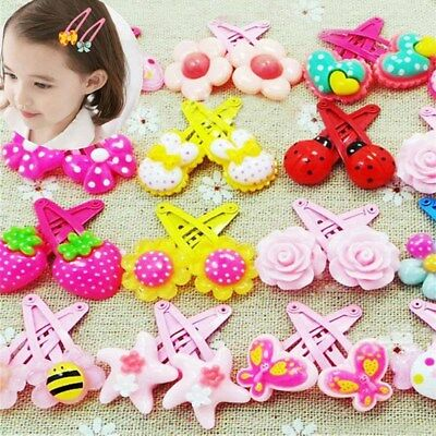 Mixed Cartoon Styles Baby Kids Girls Hairpin Hair Clips Jewelry Hair Accessories